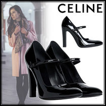 CELINE Plain Toe Casual Style Suede Blended Fabrics Street Style