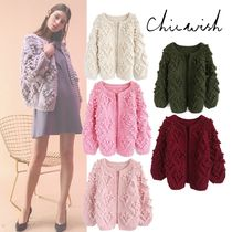 Chicwish Heart Casual Style Medium Elegant Style Outerwear