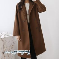Casual Style Plain Long Office Style Chester Coats