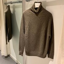 CELINE Cashmere Long Sleeves Plain Cashmere