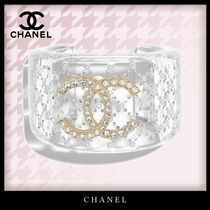 CHANEL Bangles Costume Jewelry Casual Style Party Style