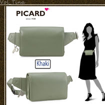 PICARD Casual Style 2WAY Plain Leather Crossbody Logo Shoulder Bags