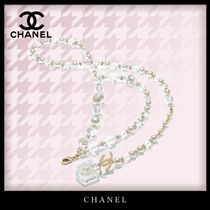 CHANEL Blended Fabrics Party Style Elegant Style Belts