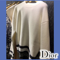 Christian Dior Casual Style Cashmere Long Sleeves Cashmere