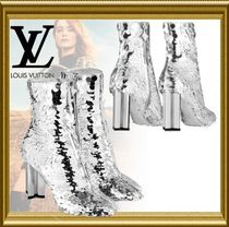 Louis Vuitton Block Heels PVC Clothing Ankle & Booties Boots