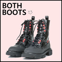 BOTH PARIS Round Toe Lace-up Leather Lace-up Boots