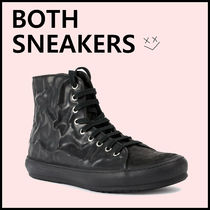BOTH PARIS Round Toe Lace-up Leather Low-Top Sneakers