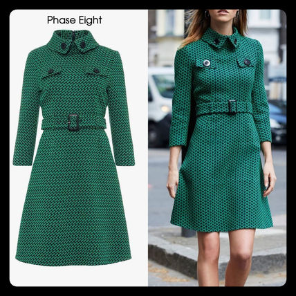 A-line Tweed Flared Cropped Medium Party Style Office Style