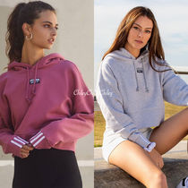 adidas Short Street Style Long Sleeves Cotton Logos on the Sleeves