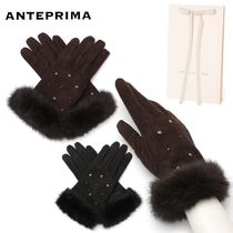 ANTEPRIMA Wool Cashmere Plain Leather Leather & Faux Leather Gloves
