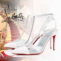 Christian Louboutin Nosy Plain PVC Clothing With Jewels High Heel Pumps & Mules