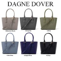 DAGNE DOVER Casual Style Plain Leather Totes