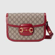 GUCCI GG Supreme Casual Style Leather Elegant Style Shoulder Bags