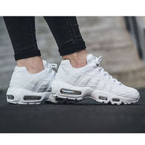 Nike AIR MAX 95 Platform Round Toe Casual Style Blended Fabrics Street Style