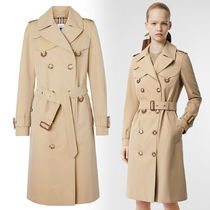 Burberry Leather Long Trench Coats