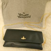 Vivienne Westwood Casual Style Chain Plain Leather Party Style Clutches