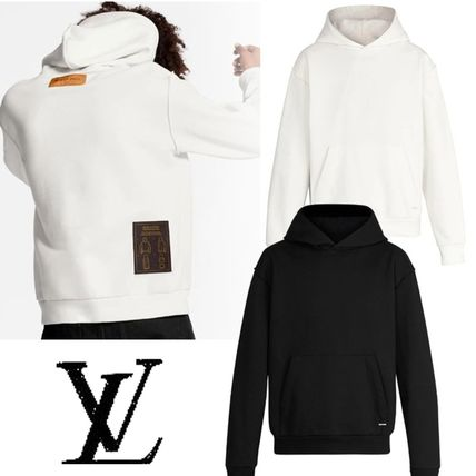 Louis Vuitton Pullovers Unisex Long Sleeves Plain Cotton Logo Luxury
