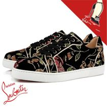 Christian Louboutin Flower Patterns Casual Style Low-Top Sneakers