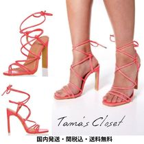 Lipsy Casual Style Plain Party Style Elegant Style Heeled Sandals