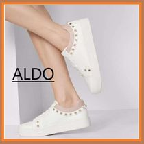 ALDO Platform Round Toe Rubber Sole Casual Style Faux Fur Studded