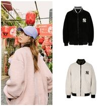 MLB Korea Unisex Street Style Medium Oversized Varsity Jackets