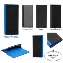 PRADA Saffiano Bi-color Long Wallets