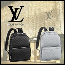 Louis Vuitton DAMIER Street Style Leather Backpacks
