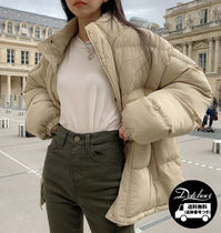 Short Casual Style Street Style Plain Oversized Outerwear