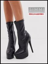 SIMMI Platform Casual Style Faux Fur Ankle & Booties Boots