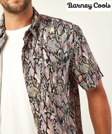 Button-down Short Sleeves Python Shirts