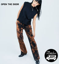 OPEN THE DOOR Casual Style Street Style Tie-dye Cotton Elegant Style Pants
