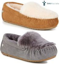 EMU Australia Rubber Sole Sheepskin Plain Slip-On Shoes