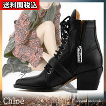 Chloe Plain Leather Ankle & Booties Boots