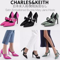 Charles&Keith Casual Style Plain Pin Heels Party Style Elegant Style Shoes