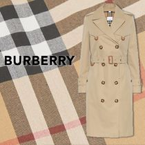Burberry Casual Style Plain Elegant Style Trench Coats