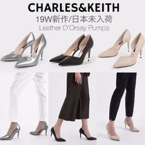 Charles&Keith Casual Style Plain Leather Office Style Elegant Style