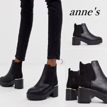ASOS Casual Style Faux Fur Street Style Plain Chunky Heels
