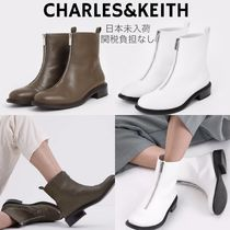 Charles&Keith Casual Style Faux Fur Plain Elegant Style
