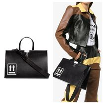 Off-White Casual Style A4 2WAY Totes