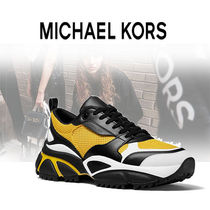 Michael Kors Blended Fabrics Street Style Bi-color PVC Clothing Sneakers
