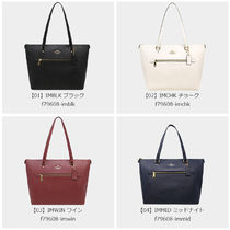 Coach A4 Plain Leather Office Style Totes
