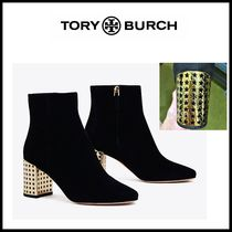 Tory Burch Star Plain Toe Casual Style Suede Leather Party Style