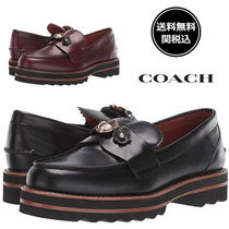 Coach Platform Casual Style Plain Leather Loafer & Moccasin Shoes