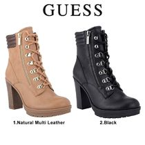Guess Lace-up Casual Style Plain Lace-up Boots