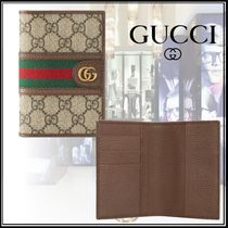 GUCCI Ophidia Unisex Blended Fabrics Passport Cases