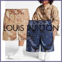 Louis Vuitton MONOGRAM Printed Pants Other Check Patterns Blended Fabrics