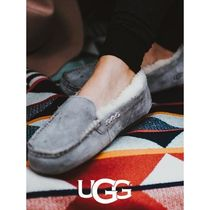 UGG Australia ANSLEY Moccasin Unisex Sheepskin Fur Street Style Slip-On Shoes