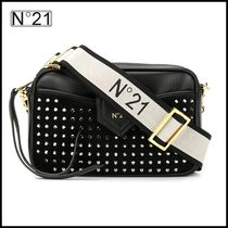 N21 numero ventuno Casual Style Plain Leather Office Style Shoulder Bags