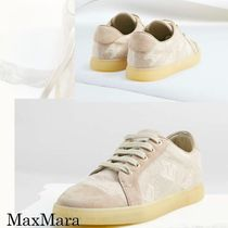 MaxMara Casual Style Plain Leather Low-Top Sneakers