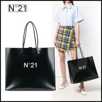 N21 numero ventuno Casual Style Plain Leather Office Style Totes